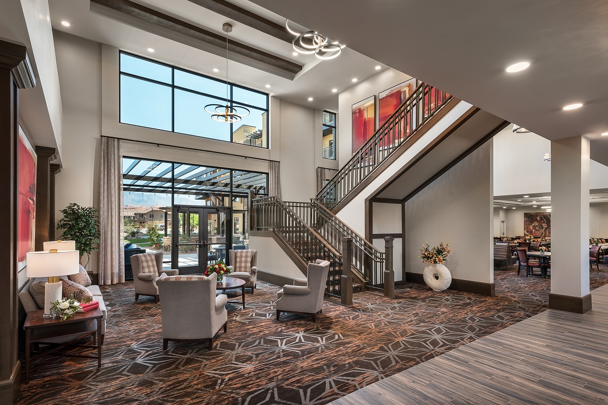 Lobby with sitting area.