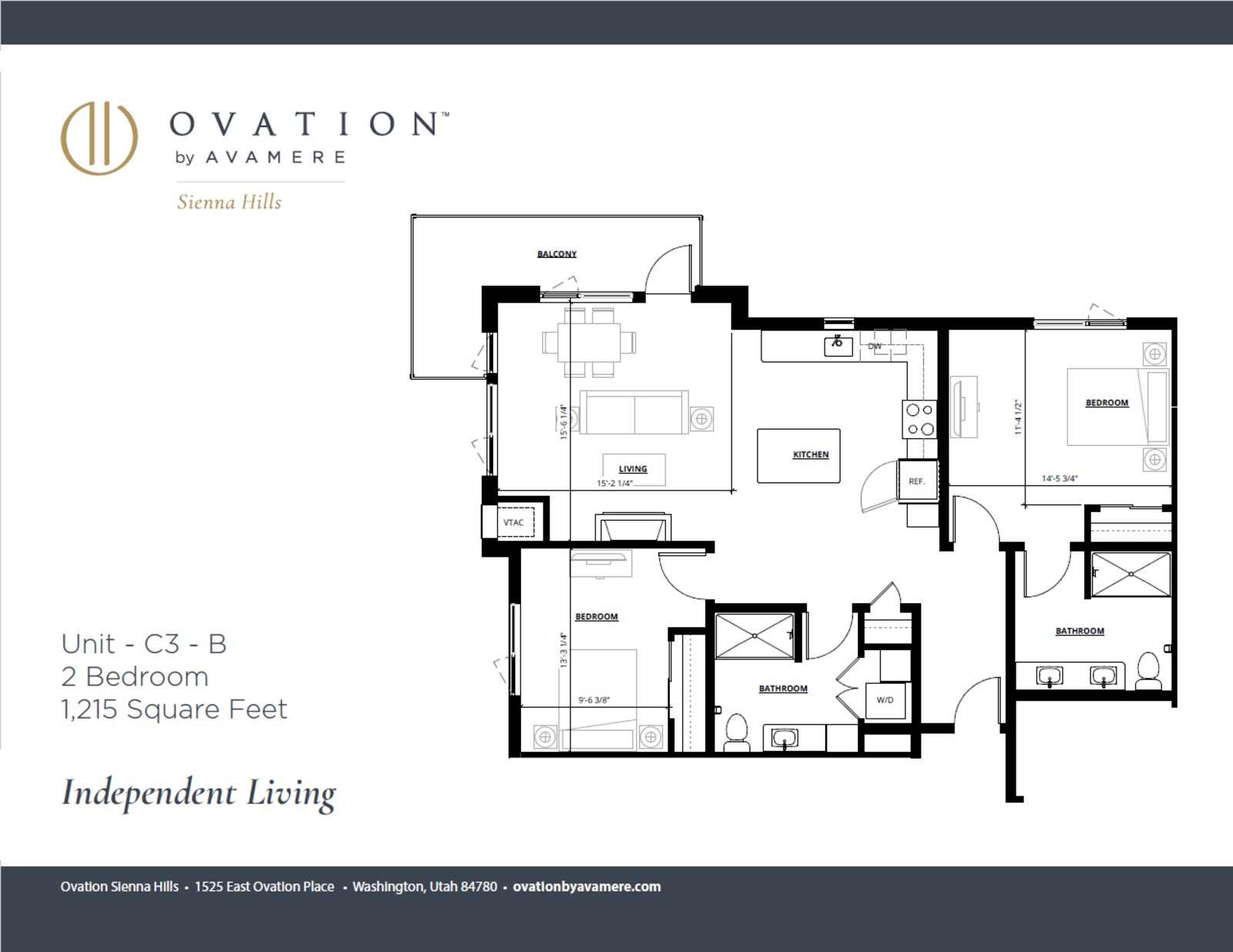 Independent Living | Two Bedroom | Limited Availability