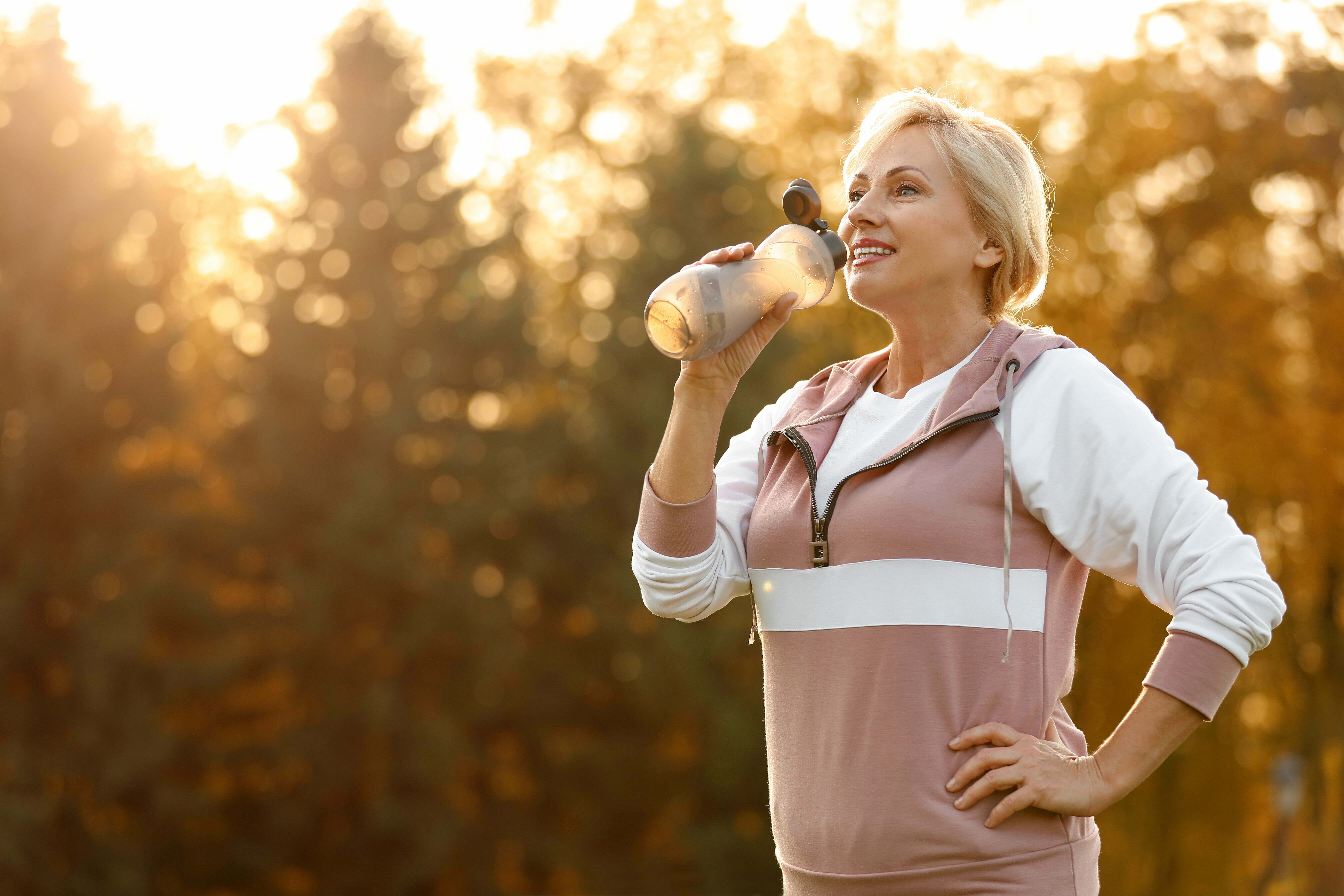 active woman over age 55 exercising at ovation retirement community